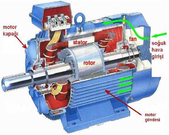 AC Motorun yapısı