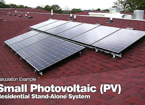Small Photovoltaic (PV) Residential Stand-Alone System