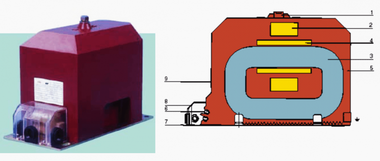 Figure 4 – A 12 kV indoor epoxy resin-cased one-pole magnetic voltage transformer