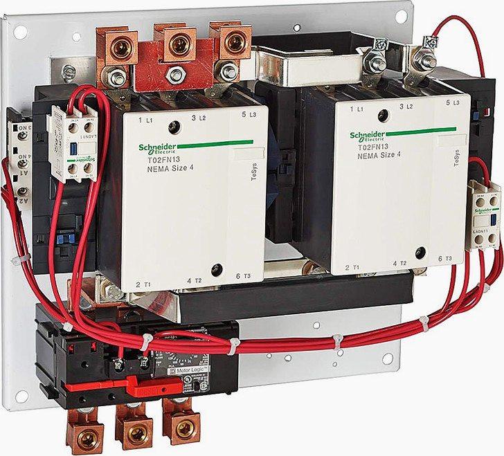 (fotoğraf: Schneider Electric'in Nema manyetik marş motoru için , 240VAC sargı gerilimli, 45A-135A amper ayarlı aşırı yük rölesi)