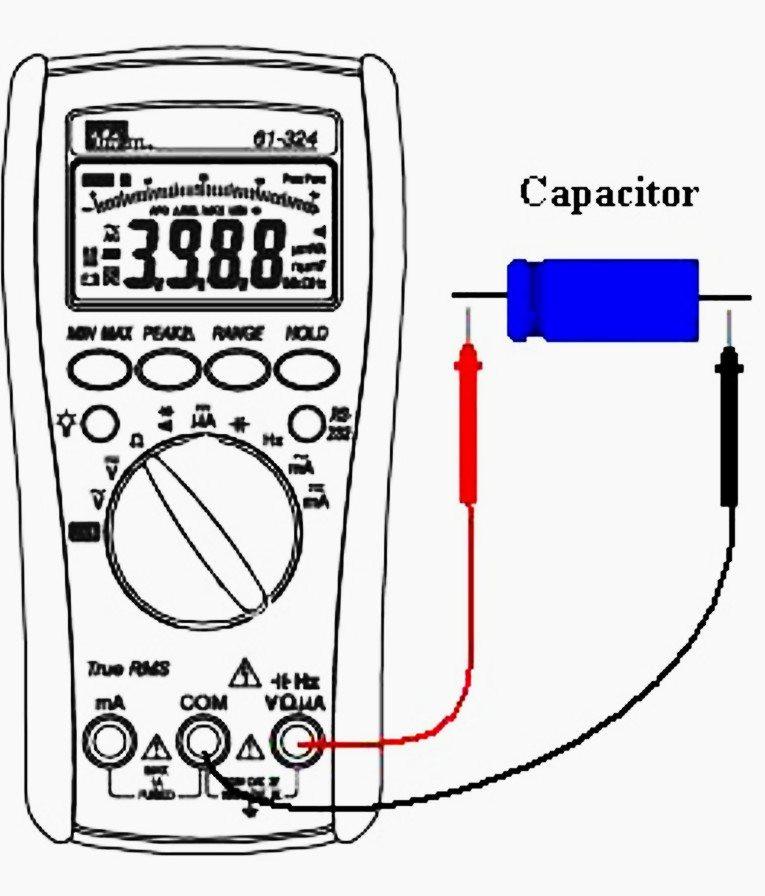 Testing capacitance with digital miltimeter