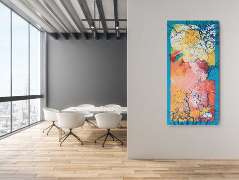Pink volcano 2020  Industrial oil paint with high quality canvas 70/120 cm
