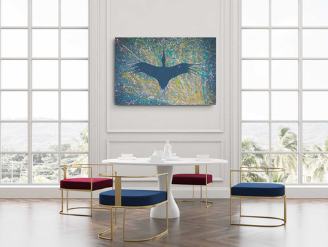 Freedom colors on the snow 2020,  Industrial colors & Lime color on high quality canvas, 125/82 cm