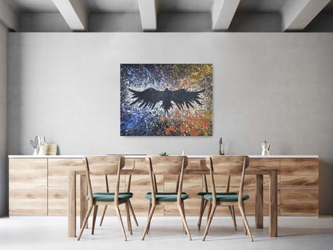"""""""I want to grow"""" 2020 Acrilic on canvas 80/100 cm"""