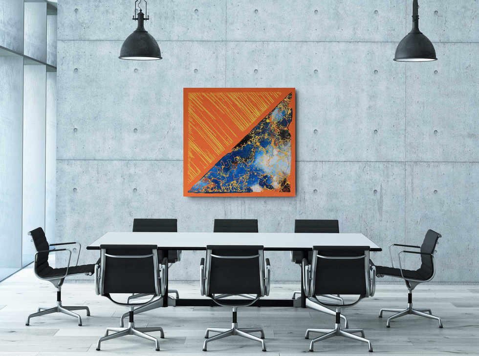 """Orange Day Blue Night"" (sold)"