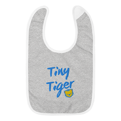 """Tiny Tiger"" Embroidered Baby Bib"