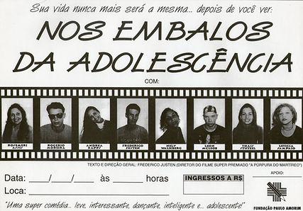 Cartaz Nos Embalos da Adolescência