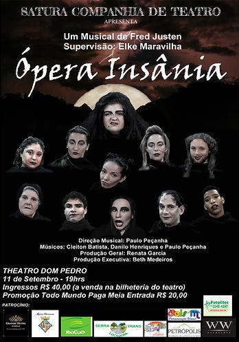 Cartaz Ópera Insânia