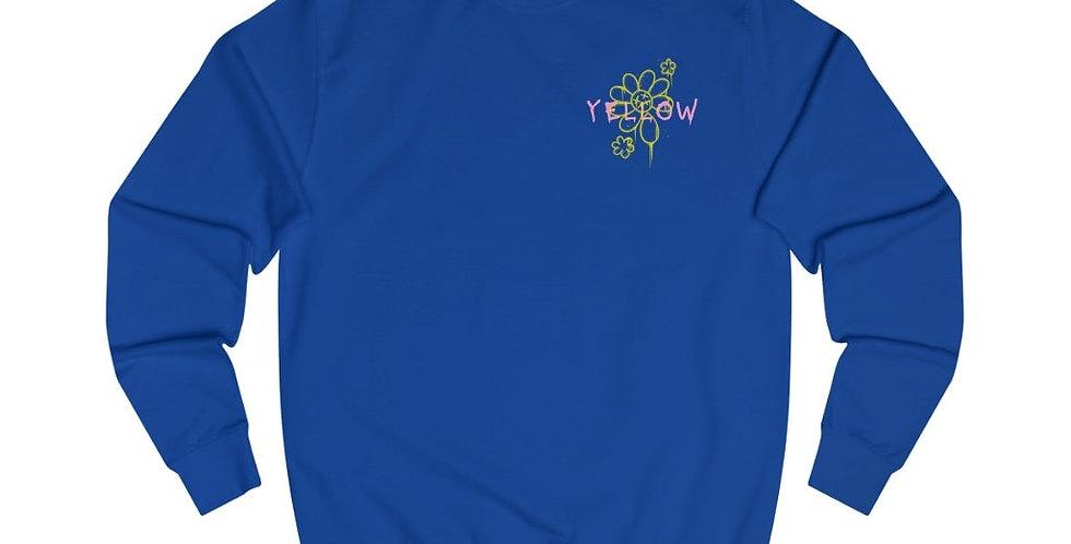 YELLOW GLOBE PRINT SWEATSHIRT (BLUE)