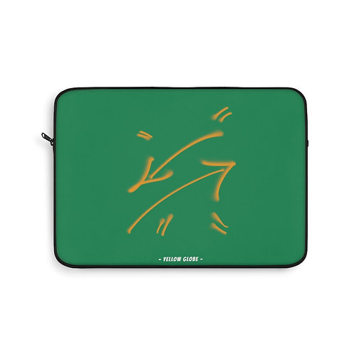 YELLOW GLOBE CROSS ARROW LAPTOP SLEEVE
