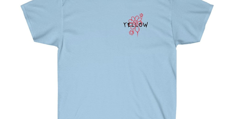 YELLOW GLOBE PRINT T-SHIRT (LIGHT BLUE)