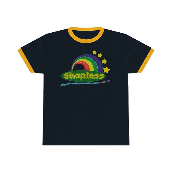 SHAPLESS RINGER TEE WITH GRAPHIC (NAVY)