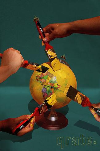 qrate yellow globe homepage