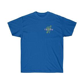 YELLOW GLOBE PRINT T-SHIRT (BLUE))