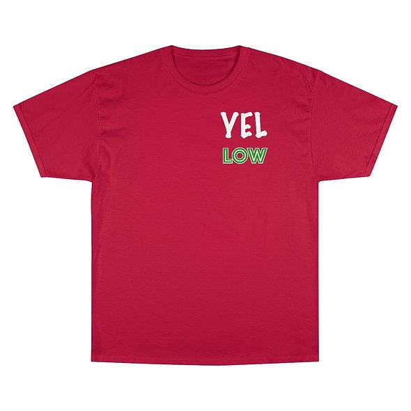 YELLOW GLOBE LOGO T-SHIRT (RED)