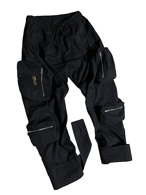 AAMIL MULTIFUNCTIONAL CARGO PANTS (BLACK)