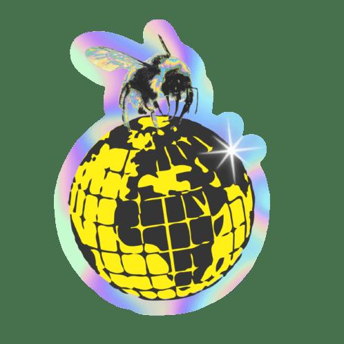 BUBBLE-FREE QRATE BEE STICKER