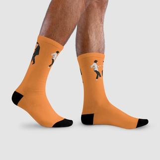 Yellow Globe Socks