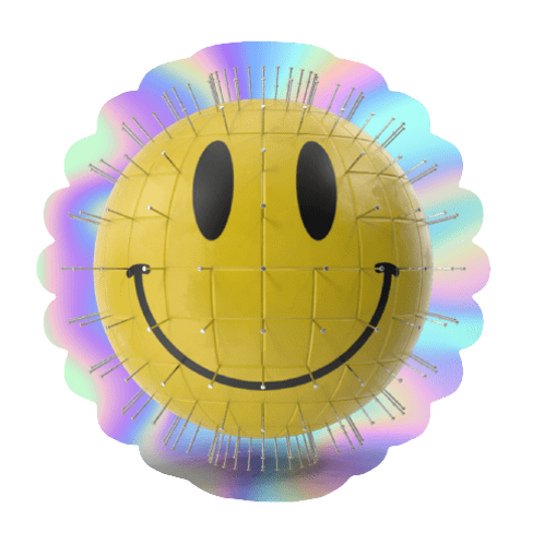 BUBBLE-FREE QRATE SMILEY STICKER