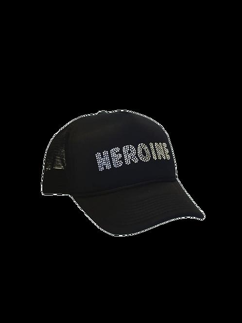 ABOVEAVERAGE HEROINE RHINESTONE TRUCKER HAT