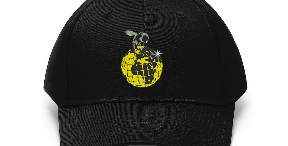 YELLOW GLOBE BEE LOGO EMBROIDERED DAD HAT
