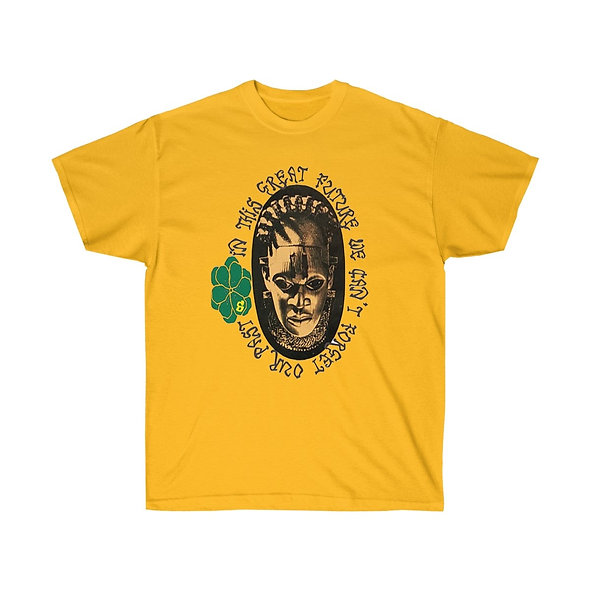 SHAPLESS GRAPHIC TEE IN YELLOW