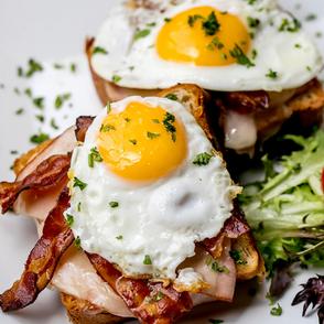Open Face Breakfast Sandwich