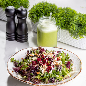 Beet Salad and smoothie