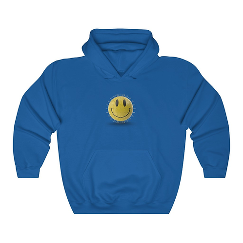 YELLOW GLOBE SMILEY HOODIE (BLUE)