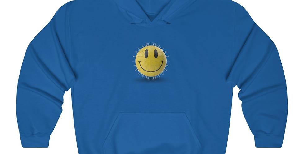 YELLOW GLOBE SMILEY HOODIE (BLUE)