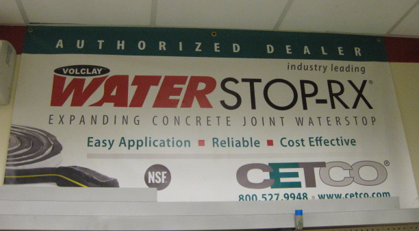 Foundation Water Stop