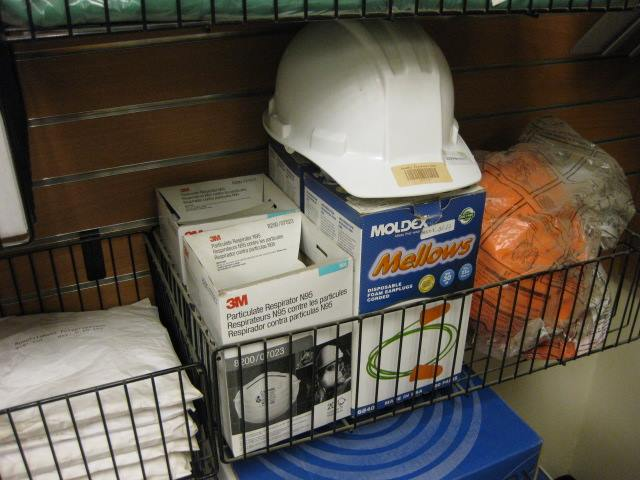 Hard Hats, N-95 Masks, Vests