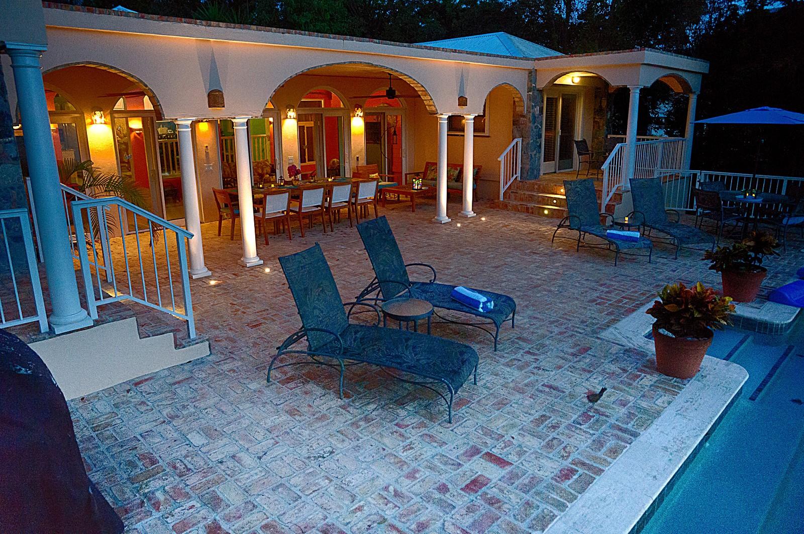 pool deck evening