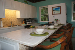 Dining at kitchen Island