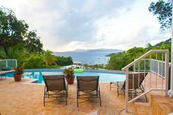 pool deck view