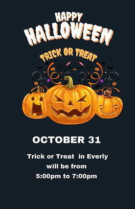 City of Everly Trick or Treating will be from 500pm to 700pm.jpg