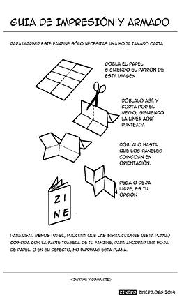 como imprimir un fanzine de ciencia de una sola pagina o simple