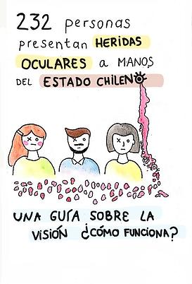 Fanzine de ciencia y conocimiento sobre la perdidade vision en el marco del estallido social de Chile