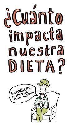 fanzine de ciencia sobre el impacto de la dieta carnivora en el cambio climático
