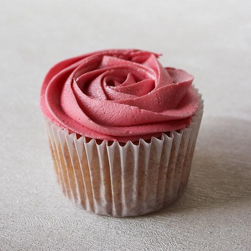 Classic Vanilla Rose Cupcakes