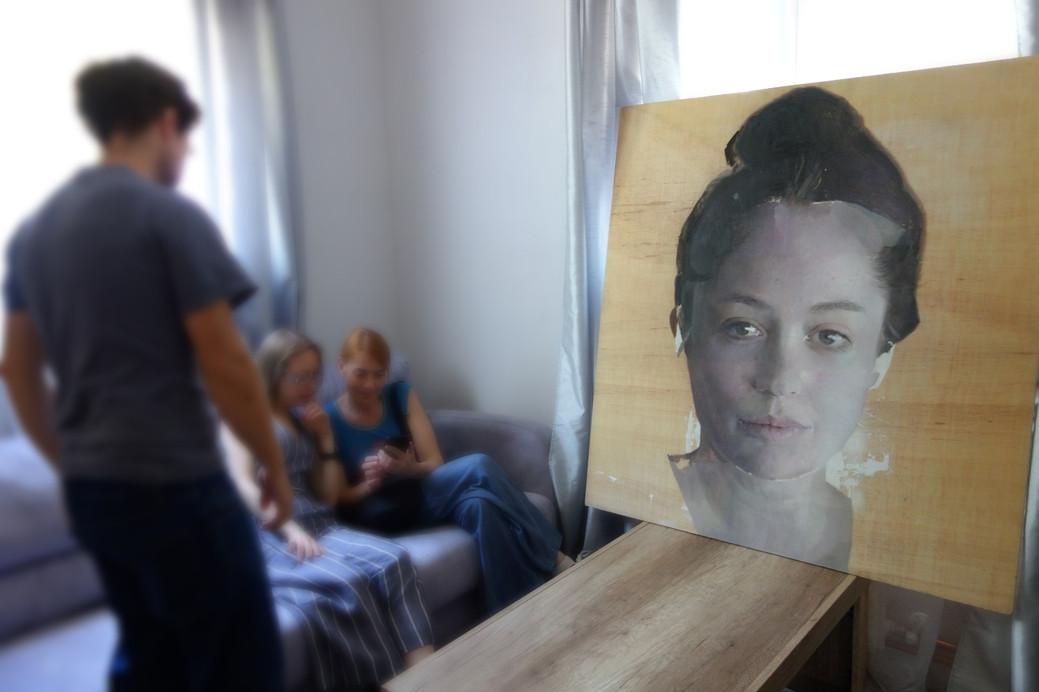 Virginia at the studio