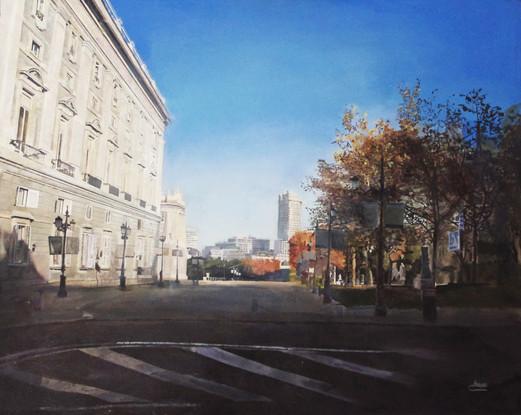 Jorge Abbad, Palacio Real, 2013, óleo sobre lienzo, 100 x 81 cm