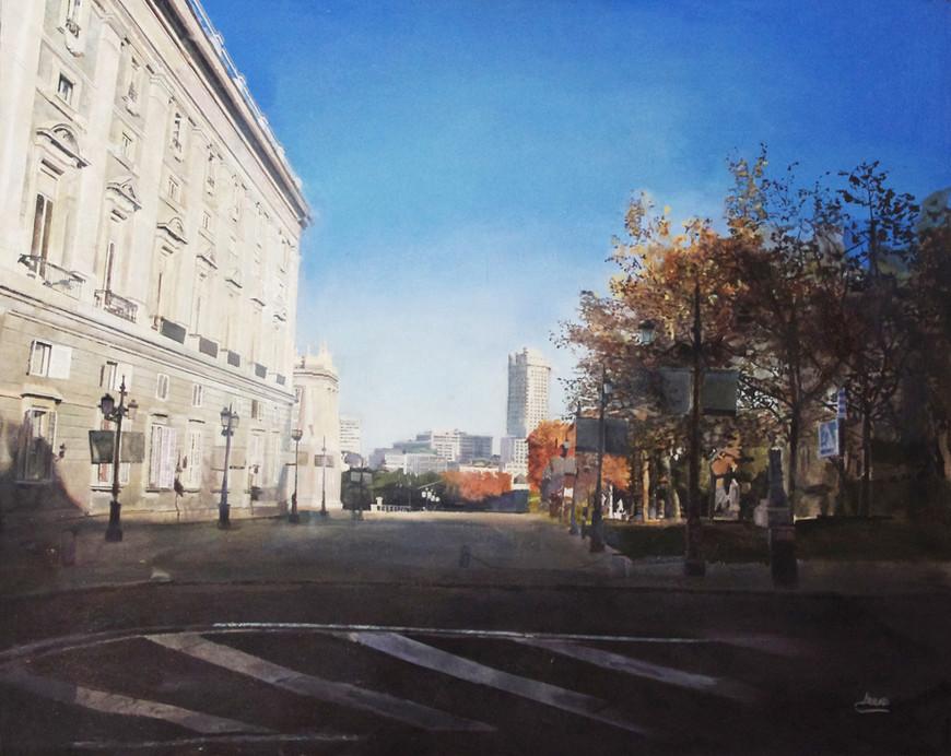 Palacio Real, 2013, oil on canvas, 81 x 100 cm.
