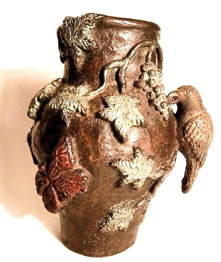 Jarron con parra, bronce,15 X 12 X 11 cm