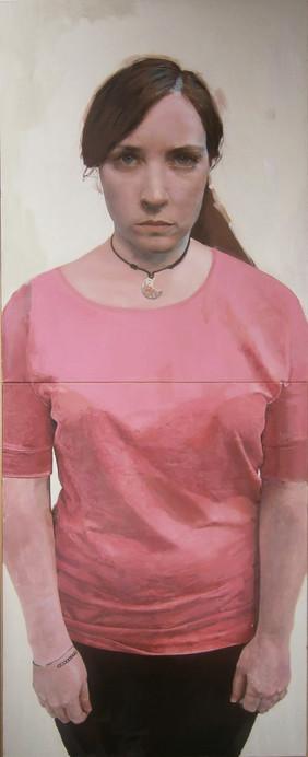 Almu, 2013, oil on canvas, 200 x 81 cm