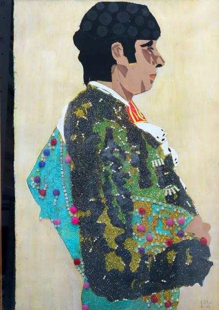 Torero, 2012, técnica mixta sobre cartón, 68 x 48 cm