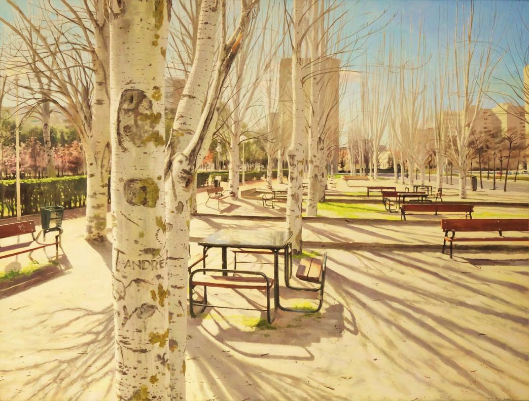 Vaguada. Día de invierno, 2012, acrílico sobre lienzo,180 x 244 cm