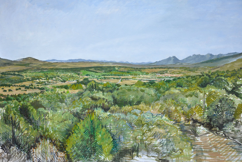 Paisaje Cabanillas, 2014, oil on wood, 70 x 100 cm