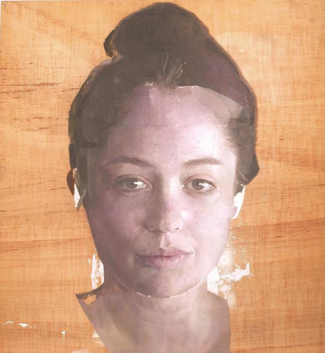 Virginia, 2017-18, oil on wood, 122 x 114 cm