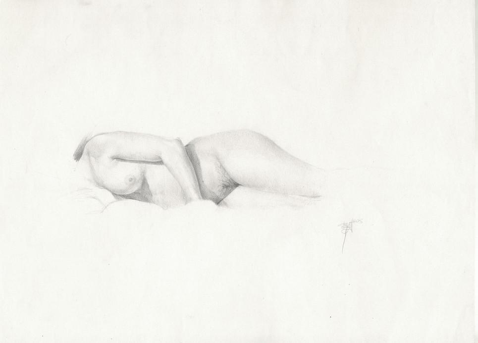 Desnudo, pencil on paper, 29 x 39 cm